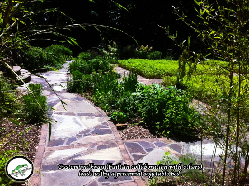 perennial vegetable bed & walkway
